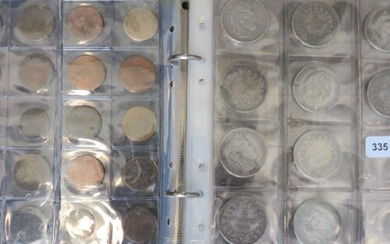 Coins - Collection of 167 various coins including 60 silver...