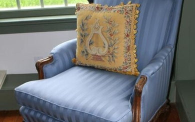 Custom Upholstered French Style Armchair