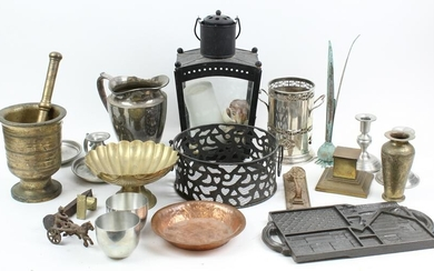Group of Assorted Metalware Incl. Brass, Copper