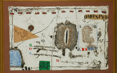 JAMES COIGNARD (2015-2008). Abstract composition, signed and numbered 10/50, carborundum etching and collage.