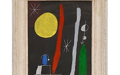 JOAN MIRO 'Abstract', 1967, lithograph, printed by Maeght, 3...