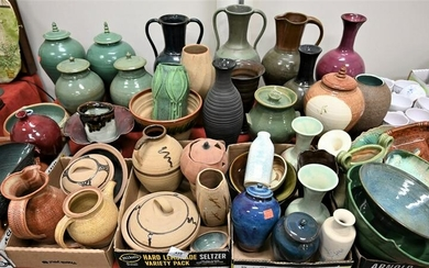 Large Group Lot of Glazed Pottery, to include several
