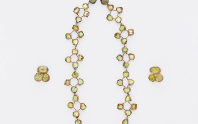 Line Vautrin, Necklace and pair of earrings