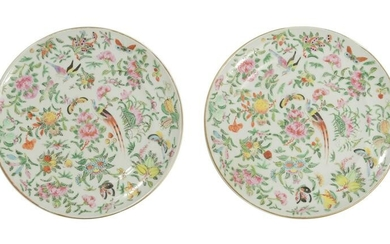 Pair of Chinese Export Famille Rose Plates,19th Century