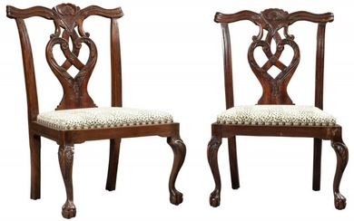 Pair of George II Style Mahogany Child's Chairs