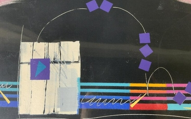 Signed Abstract The Water's Safe Lithograph