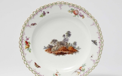 Two Berlin KPM porcelain dessert plates from a hunting service