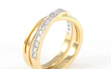 18 K / 750 Yellow Gold CARTIER Style Diamond Ring