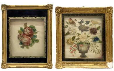 (2) FRAMED VICTORIAN BERLIN WOOL WORK PICTURES