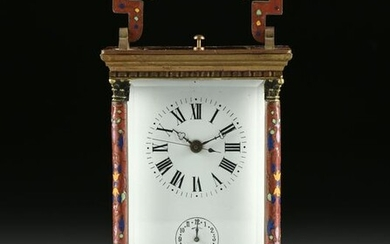 A FRENCH CLOISONNÉ ENAMELED GILT BRONZE AND BEVELED