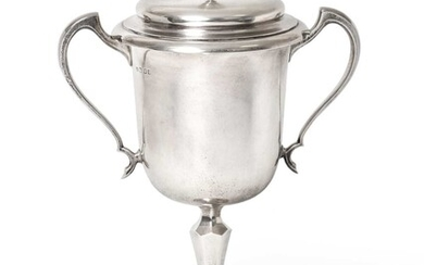 A George V Silver Two-Handled Cup and Cover, by...