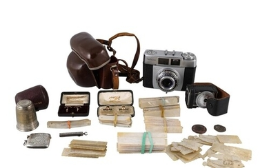 A MIXED MISCELLANEOUS COLLECTION OF ITEMS, including a Victo...