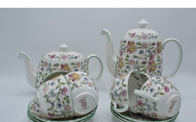 A collection of Minton Haddon Hall items to include tea and ...