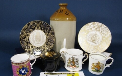 A collection of royal commemorative wares comprising boxed l...