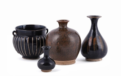 A group of Chinese black glazed wares