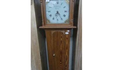 A pine 30-hour Longcase Clock, the painted dial signed Charl...