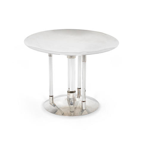 A silver-plate standing dish