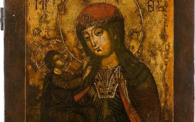 AN ICON SHOWING THE MOTHER OF GOD Russian, 18th century