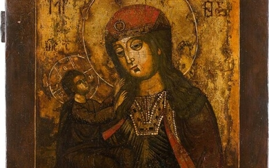 AN ICON SHOWING THE MOTHER OF GOD Russian, 18th...