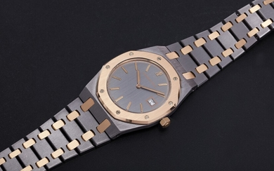 AUDEMARS PIGUET, A TANTALUM AND ROSE GOLD ROYAL OAK QUARTZ WRISTWATCH, REF. 56175TR