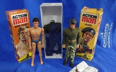 Action Man; A boxed early 1980's 'Basic Figure', with brown ...