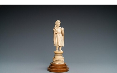 An Indo-Portuguese ivory figure of the Christ Child blessing...