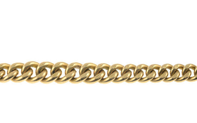 An early 20th century 15ct gold curb-link bracelet.