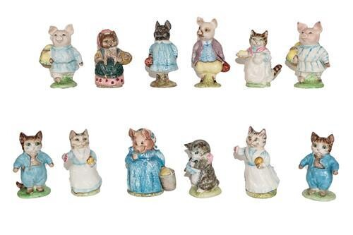 Beswick Beatrix Potter Figures Comprising: Aunt Pettitoes; Cousin Ribby; Little...