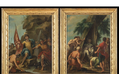 Bolognese school, 18th century The miracle of Saint Venanzio; The death of Saint Pellegrino Pair of paintings, oil on canvas,…Read more