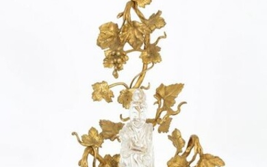 Chinese Guanyin Figure with Gilt Bronze Mounts