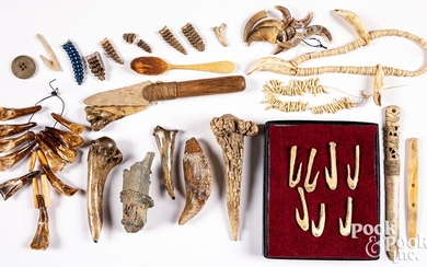 Collection of various teeth objects
