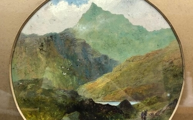 ENGLISH SCHOOL (LATE 19TH CENTURY) - Figures on a highland p...