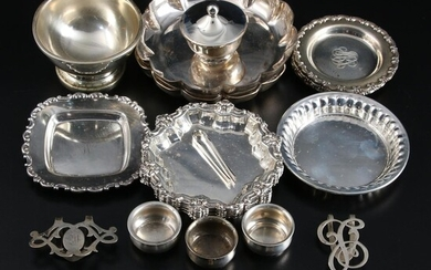 Gorham, and Other Sterling Silver Butter Pats, Napkin Clips and Tableware