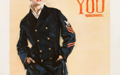 HOWARD CHANDLER CHRISTY (1873 1952) I WANT YOU FOR THE NAVY