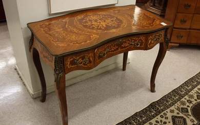 LOUIS XV STYLE MARQUETRY INLAID WRITING TABLE, Egy