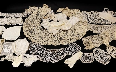 Late 19th and Early 20th Century Lace, comprising a bertha...