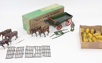 Lot details A group of Britains farm-related items as...