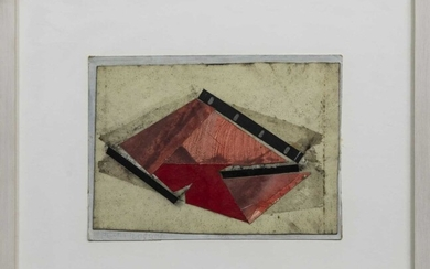 PAINTED METALLIC FRAGMENT, A MIXED MEDIA BY PHILIP REEVES