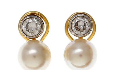 Pearls and diamonds you and me earrings.
