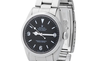 Rolex. Refined and Sporty Explorer Automatic Wristwatch in Steel, Reference 1016, with Black Dial