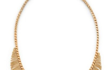 STERLE, YELLOW GOLD AND DIAMOND NECKLACE