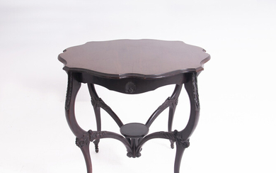 Small wooden table. England. Late 19th century