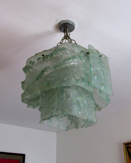 Special Retro Ice Glass Ceiling Lamp