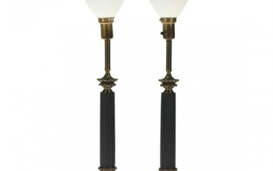 Stiffel, Pair of Neoclassical Style Columnar Table