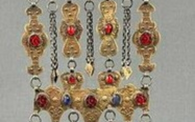 Turkmen jewelry hangings. Probably Central Asia