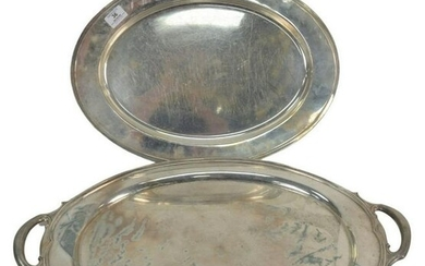 Two Large Sterling Silver Oval Trays to include Gorham