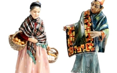 Two Royal Doulton figures comprising The Orange Lady HN1759 ...