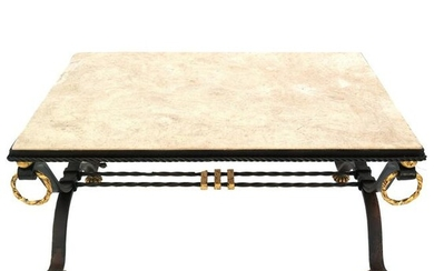 Wrought Iron & Parcel Gilt Low Table