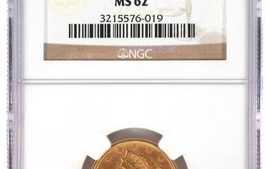 1895 $5 US Half Eagle Gold Coin NGC MS 62