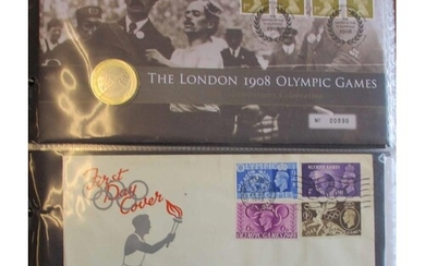 1948-2012 coln of FDC`s in vol, incl 1948 Olympics with Wemb...